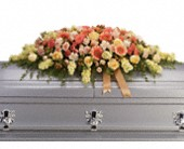 Warmest Remembrance Casket Spray in Austin TX, Ali Bleu Flowers