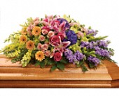 Garden of Sweet Memories Casket Spray in Metairie LA, Villere's Florist