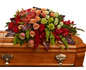 A Fond Farewell Casket Spray in San Clemente CA, Beach City Florist