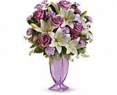 Teleflora's Lavender Love Bouquet in The Woodlands, Texas, Rainforest Flowers