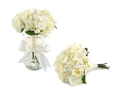 Wedding Bouquet of Roses & Hydrangea (Metro-Detrio in Southfield, Michigan, Thrifty Florist