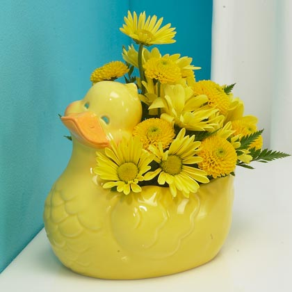 Small yellow Duckie Bouquet  in Highlands Ranch CO, TD Florist Designs