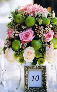 Fruit and Roses Arrangement in Cerritos CA, The White Lotus Florist