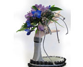 Purple and Blue Royal Corsage in Amherst NY, The Trillium's Courtyard Florist