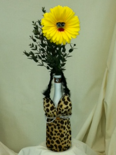 Leopard Dress Koozie in Canton NY, White's Flowers