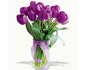Spring-Tulips--Deluxe-Purple in San Clemente CA, Beach City Florist