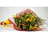 Yellow-Alstroemeria-Wrap in San Clemente CA, Beach City Florist