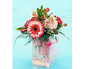 Flowers Depot Thank-You-Cube or Vase in San Clemente CA, Beach City Florist