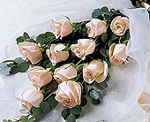Beach City Florist  12 long stem Peach Roses  in San Clemente CA, Beach City Florist