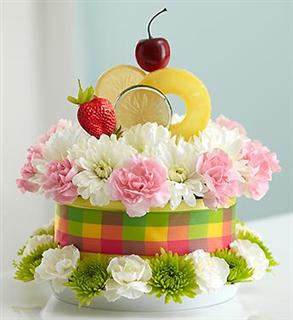 Floral Fruit Cake In Surrey BC Royal Gifts Flowers