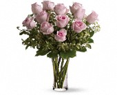 A Dozen Pink Roses in Uxbridge ON, Keith's Flower Shop