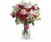 Pink Butterfly Bouquet by Teleflora in North Andover MA, Forgetta's Flowers & Greenhouses