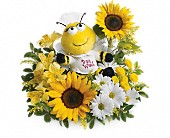 Teleflora's Bee Well Bouquet in Oakland CA, Lee's Discount Florist