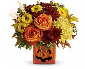 Teleflora's Halloween Glow in Johnstown NY, Studio Herbage Florist
