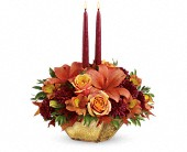 Teleflora's Harvest Gold Centerpiece in Watertown NY, Sherwood Florist