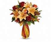 Teleflora's Treasures of Fall Bouquet in Mississauga ON, Mums Flowers