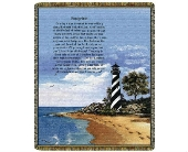 Throw - Lighthouse w/ Footprints in Bellville, Ohio, Bellville Flowers & Gifts