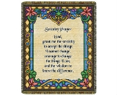 Throw - Serenity Prayer (Stained Glass) in Bellville, Ohio, Bellville Flowers & Gifts