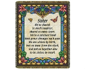 Throw - Sister (Stained Glass) in Bellville, Ohio, Bellville Flowers & Gifts