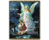 Throw - Guardian Angel Direct Thy Path in Bellville, Ohio, Bellville Flowers & Gifts