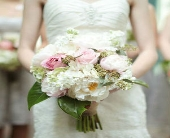 White & Pink Bridal Bouquet in Knoxville, Tennessee, The Flower Pot