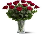 One Dozen Red Roses Vased in Louisville KY, Hedman's Suburban Florist