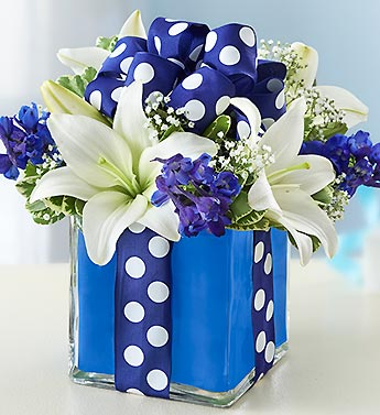 1 800 Flowers-All Wrapped up- Blue in Woodbridge VA, Lake Ridge Florist
