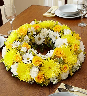 1 800 Flowers-Yellow & White Centerpiece in Woodbridge VA, Lake Ridge Florist