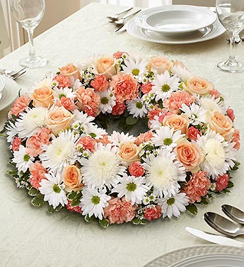 1 800 Flowers-Peach, Orange and White Centerpiece in Woodbridge VA, Lake Ridge Florist