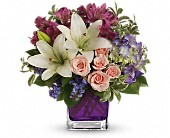 Teleflora's Garden Romance in Beaumont TX, Blooms by Claybar Floral