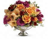 Teleflora's Elegant Traditions Centerpiece in Burlington WI, gia bella Flowers and Gifts