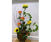 Grouped fall arrangement in Melbourne FL, Paradise Beach Florist & Gifts