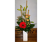 Bamboo and orange delight in Melbourne FL, Paradise Beach Florist & Gifts