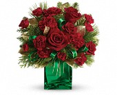 Teleflora's Yuletide Spirit Bouquet in Waldron AR, Ebie's Giftbox & Flowers