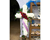 Red and White cross in Melbourne FL, Paradise Beach Florist & Gifts