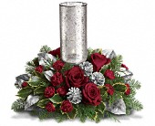 Teleflora's Silver Glow Centerpiece in Seattle WA, The Flower Lady