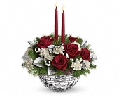 Teleflora's Sparkle of Christmas Centerpiece in Orlando FL, Elite Floral & Gift Shoppe