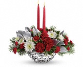 Teleflora's Winter Magic Centerpiece in Watertown NY, Sherwood Florist