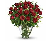 24 Red Roses Vased