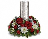 Let's Be Merry Centerpiece by Teleflora in Watertown NY, Sherwood Florist