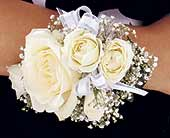 White Ice Roses Wristlet in Mooresville, North Carolina, All Occasions Florist & Boutique