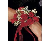 Red-Hot Roses Wristlet in Fremont CA, Kathy's Floral Design