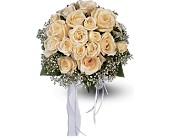 Hand-Tied White Roses Nosegay in Augusta GA, Ladybug's Flowers & Gifts Inc
