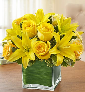 1 800 Flowers- Modern Embrace Yellow Roses & Lilli in Woodbridge VA, Lake Ridge Florist