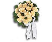 Bountiful White Roses Nosegay in Augusta GA, Ladybug's Flowers & Gifts Inc