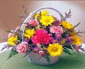Basket of Mixed Flowers in Canton, Pennsylvania, Stulls Flowers