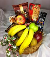 MEDIUM FRUIT & GOURMET BASKET by Rubrums in Ossining NY, Rubrums Florist Ltd.
