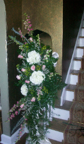 Stair Railing Arrangement in Huntington, West Virginia, Archer's Flowers and Gallery