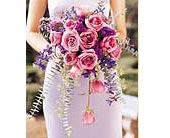 Cascading Lavender Roses Bouquet in Santa Fe NM, Barton's Flowers