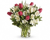 Spring Romance Bouquet in Burlington WI, gia bella Flowers and Gifts
